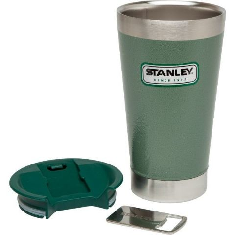 Stanley Vaccum Steel Pint 473ML -Tough, Durable, Built in Bottle Opener